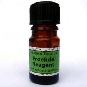 Froehde reagent test bottle