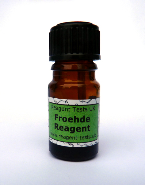 Froehde reagent test bottle