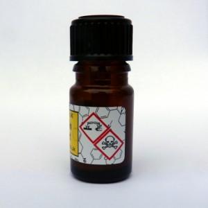 GHS symbols on the mandelin reagent test bottle