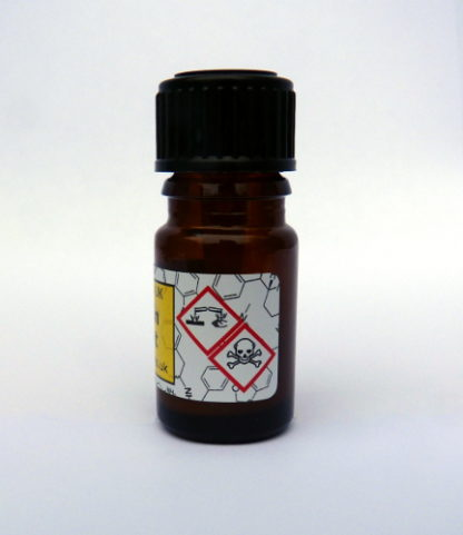 GHS symbols on the mandelin reagent test bottle