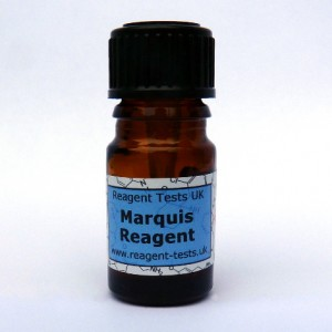 Marquis reagent test bottle