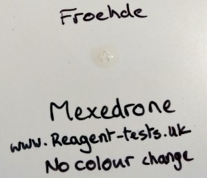 Mexedrone Froehde reagent colourless