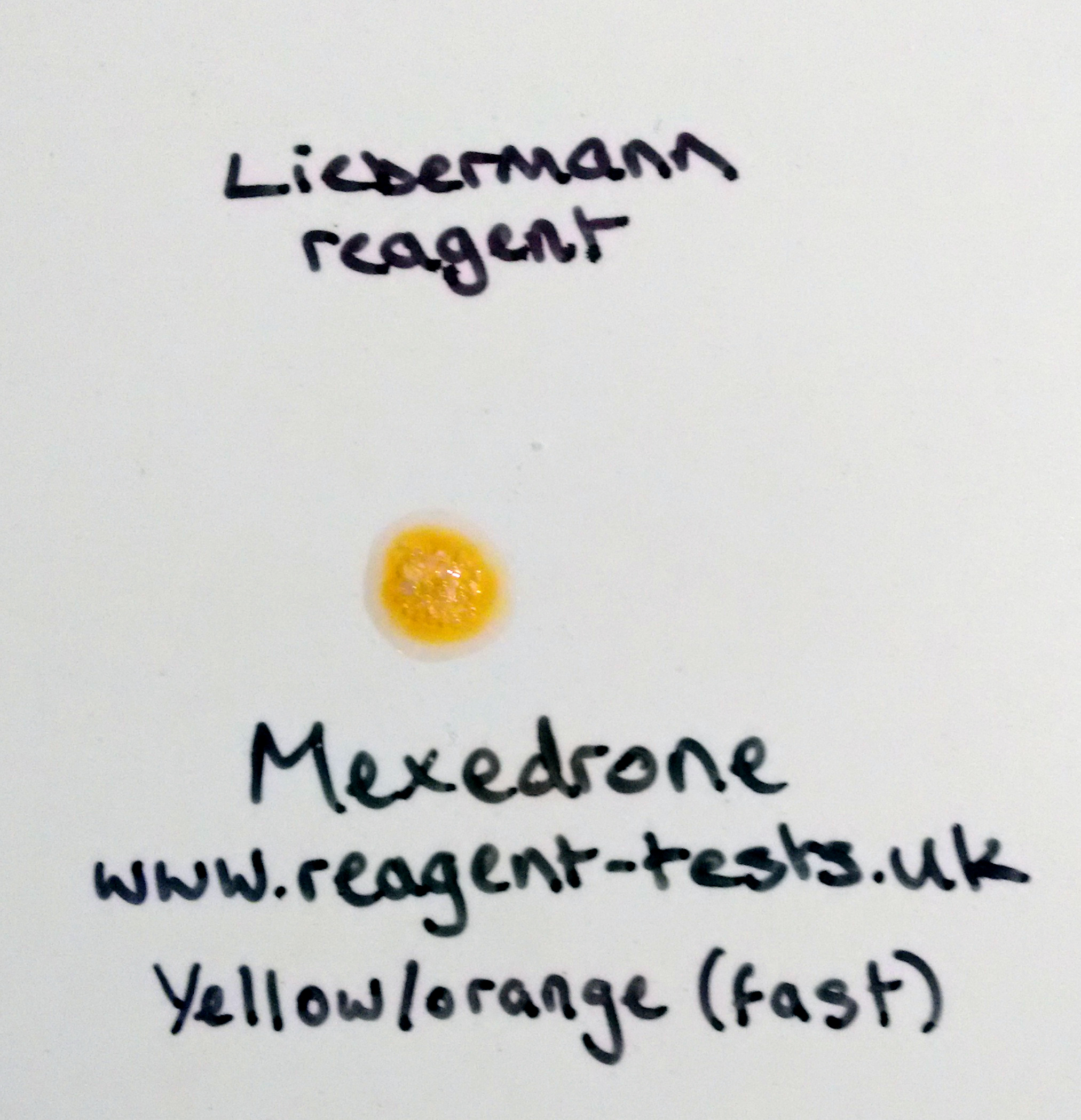 blog reagent tests uk mexedrone liebermann yellow orange