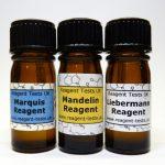 Cocaine reagent testing kit bottles