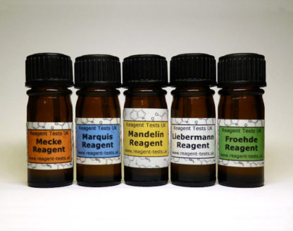 Cocaine & MDMA test kit bottles