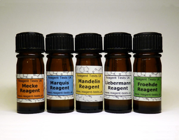 Cocaine & MDMA test kit bottles